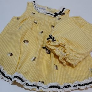 Girls 24 Month Yellow Dress with Shorts
